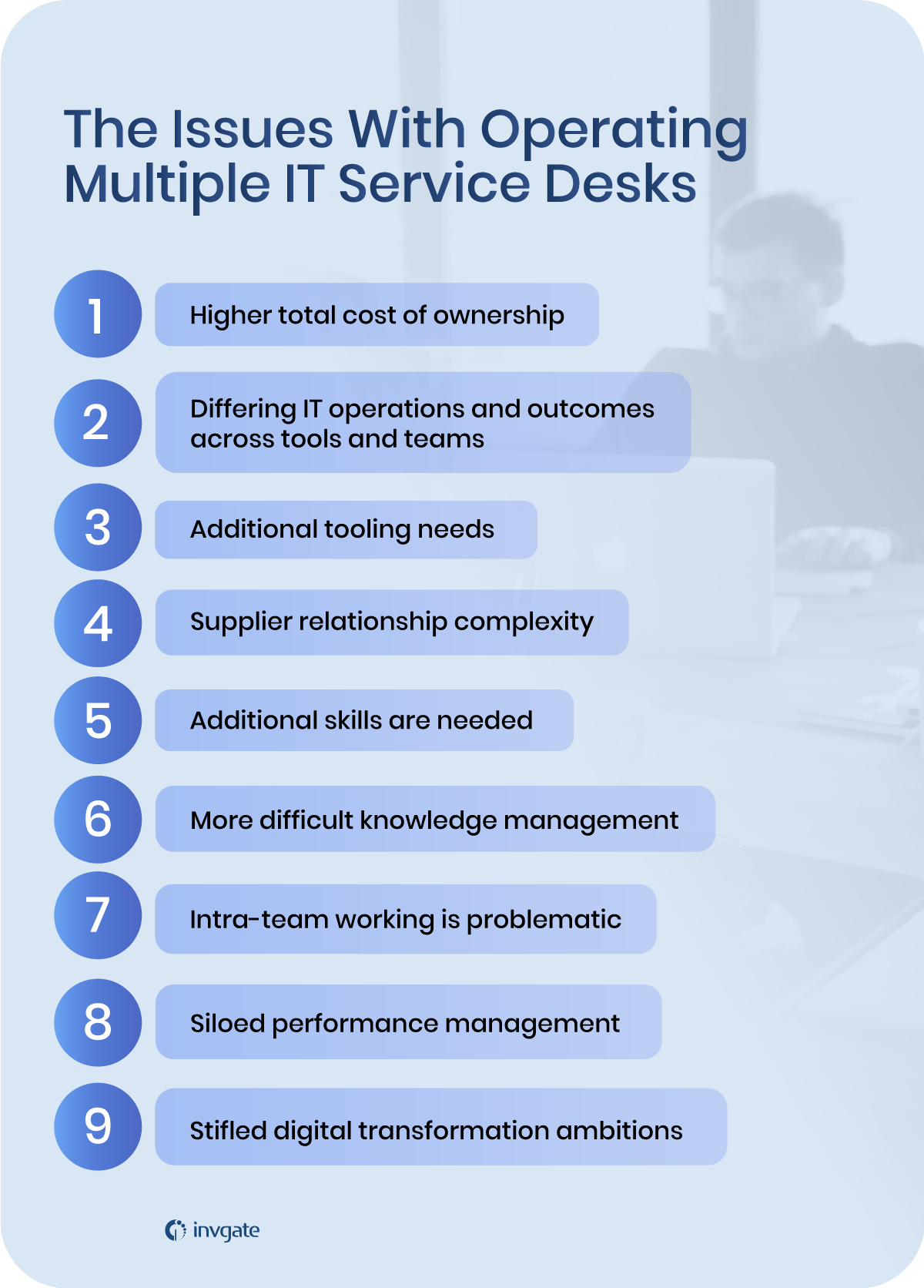 The issues with having multiple service desks