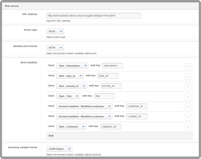Service Desk Integrate API InvGate