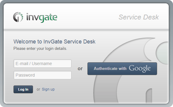 Service Desk with Google Accounts Authentication InvGate