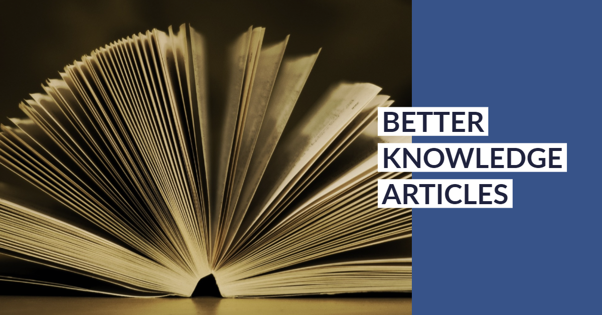 Knowledge Articles